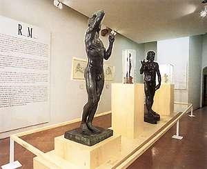 Foto sala espositiva per mostre annuali su Michelangelo e il patrimonio culturale, artistico e di memorie della Casa Buonarroti