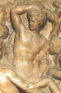 particolare della battaglia dei Centauri di Michelangelo Buonarroti