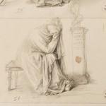 A.Canova, Donna seduta e piangente davanti a un'erma