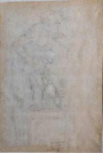 Michelangelo Sacrificio di Isacco 1530 circa matita nera, matita rossa, penna, mm 482x298, recto matita nera, mm 482x298, verso inv. 70 F