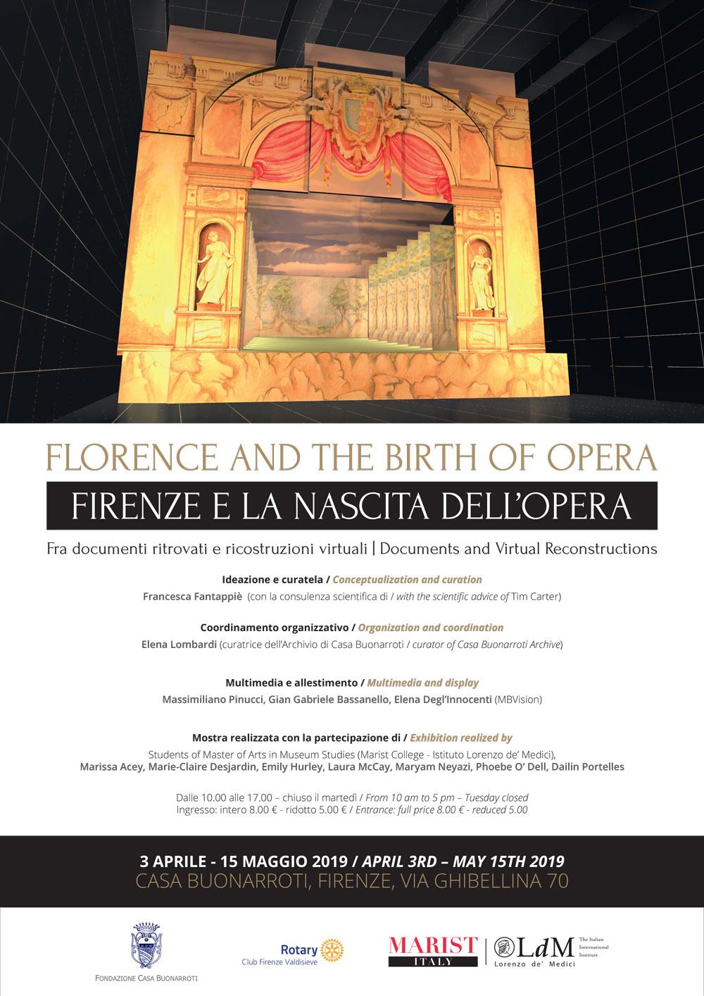 FIRENZE E LA NASCITA DELL'OPERA - FLORENCE AND THE BIRTH OF OPERA
